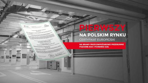 Pierwszy na rynku polskim Certyfikat Europejski